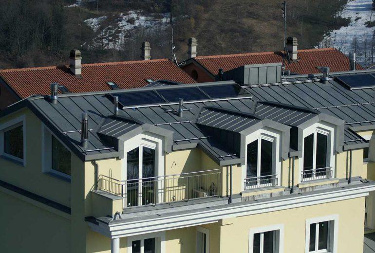 Copertura in doppia aggraffatura in zinco / titanio – Mondovì (CN)