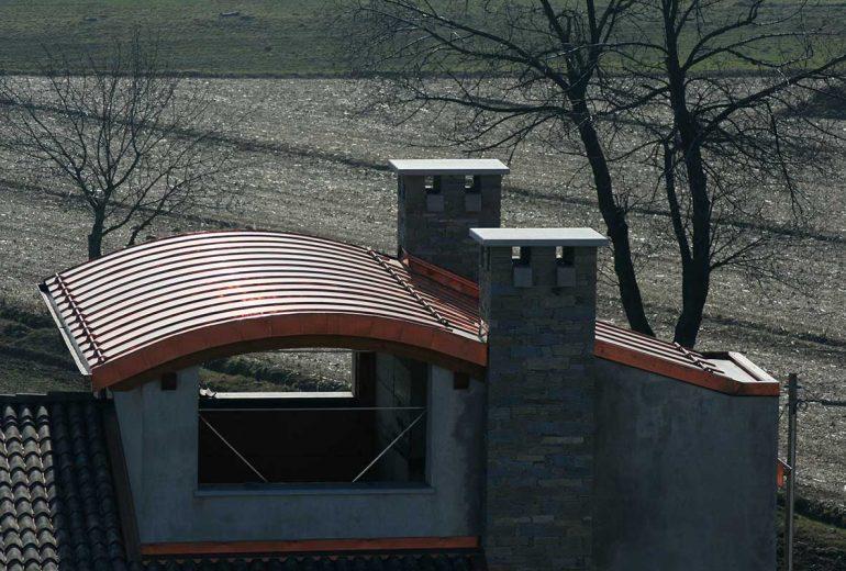 Couverture joint debout en cuivre