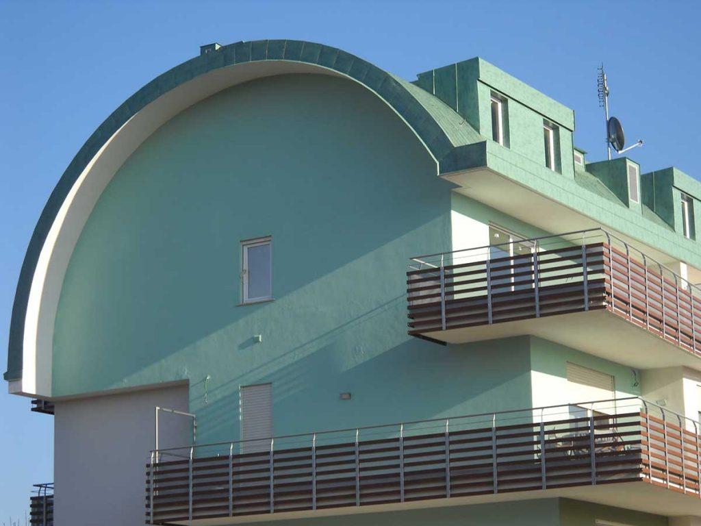 Copertura doppia aggraffatura in alluminio Vestis verde Roof