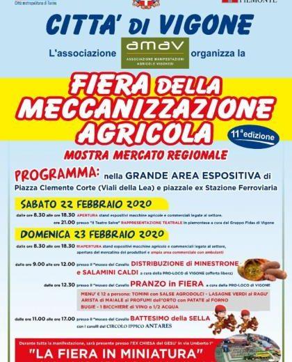 Weekend in Fiera della Meccanizzazione Agricola a Vigone